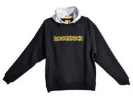 Roughneck Clothing RNKHOODYM - Black & Grey Hooded Sweatshirt - M