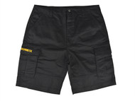 Roughneck Clothing RNKSHORT40 - Black Work Shorts Waist 40in
