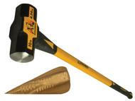 Roughneck ROU65633AV - Fibreglass Sledge Hammer 4.54kg (10lb) with FREE Wood Grenade