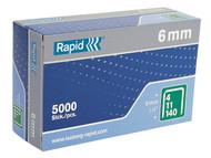Rapid RPD1406B5 - 140/6 6mm Galvanised Staples Box of 5000