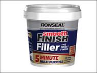 Ronseal RSL5MF600ML - Smooth Finish 5 Minute Multi Purpose Filler Tub 600ml