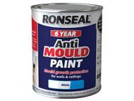Ronseal RSLAMPWM750 - 6 Year Anti Mould Paint White Matt 750ml