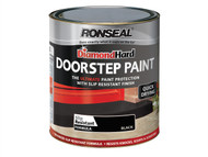 Ronseal RSLDHDSPB750 - Diamond Hard Doorstep Paint Black 750ml