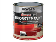 Ronseal RSLDHDSPR250 - Diamond Hard Doorstep Paint Red 250ml