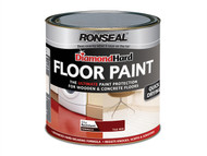 Ronseal RSLDHFPTR25L - Diamond Hard Floor Paint Tile Red 2.5 Litre