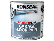 Ronseal RSLDHGFPSB5L - Diamond Hard Garage Floor Paint Steel Blue 5 Litre