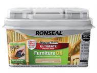Ronseal RSLGFON750 - Perfect Finish Hardwood Garden Furniture Oil Natural 750ml