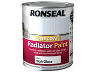 Ronseal RSLOCRPWS250 - One Coat Radiator Paint Satin White 250ml