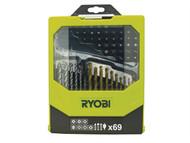 Ryobi RYBRAK69MIX - RAK 69MIX Mixed Screwdriver Set of 69