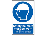 Scan SCA0002 - Safety Helmets Must Be Worn In This Area - PVC 200 x 300mm