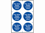 Scan SCA0153 - Fire Door Keep Locked Shut - PVC 200 x 300mm