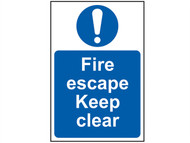 Scan SCA0158 - Fire Escape Keep Clear - PVC 200 x 300mm
