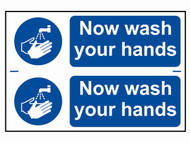 Scan SCA0404 - Now Wash Your Hands - PVC 300 x 200mm