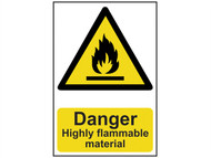 Scan SCA0901 - Danger Highly Flammable Material - PVC 200 x 300mm