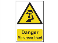 Scan SCA1150 - Danger Mind Your Head - PVC 200 x 300mm