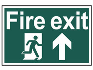 Scan SCA1505 - Fire Exit Running Man Arrow Up - PVC 300 x 200mm