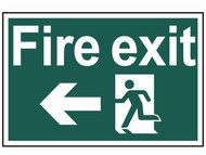 Scan SCA1506 - Fire Exit Running Man Arrow Left - PVC 300 x 200mm