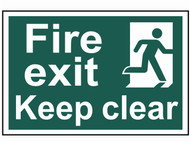 Scan SCA1513 - Fire Exit Keep Clear - PVC 300 x 200mm