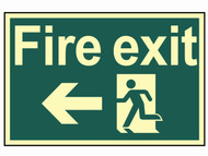 Scan SCA1583 - Fire Exit Running Man Arrow Left - Photoluminescent 300 x 200mm