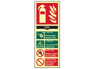 Scan SCA1592 - Fire Extinguisher Composite CO2 - Photoluminescent 75 x 200mm