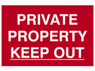 Scan SCA1652 - Private Property Keep Out - PVC 300 x 200mm