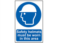 Scan SCA4000 - Safety Helmets Must Be Worn In This Area - PVC 400 x 600mm