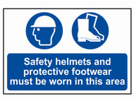 Scan SCA4001 - Safety Helmets + Footwear To Be Worn PVC 400 x 600mm