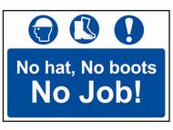 Scan SCA4009 - No Hat, No Boots, No Job - PVC 600 x 400mm