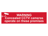 Scan SCA5254 - Warning Concealed CCTV Cameras Operate On These Premises - PVC 200 x 50mm