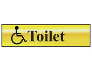 Scan SCA6004 - Disabled Toilet - Polished Brass Effect (200 x 50mm)