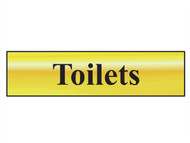 Scan SCA6005 - Toilets - Polished Brass Effect 200 x 50mm