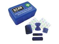 Scan SCAFAPLACAT - Hypoallergenic Blue Plasters 100 Assorted