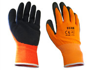 Scan SCAGLOLATOL - Orange Foam Latex Coated Glove 13g Large