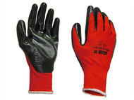 Scan SCAGLONITBL - Palm Dipped Black Nitrile Glove Large