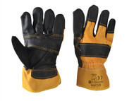 Scan SCAGLORIGHD3 - Black/Yellow Furniture Leather Rigger Gloves (3)