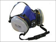 Scan SCAPPERESPP2 - Twin Half Mask Respirator + P2 Dust Filter Cartridges