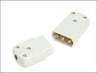 SMJ SMJCP103C - White 10A 3 Pin Plug & Socket