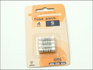 SMJ SMJFU05AC - 5A Fuses (Pack of 4)
