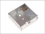 SMJ SMJMBS25C - Metal Back Box Single 25mm Depth - Carded