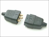 SMJ SMJRC3PBC - Black 10A 3 Pin Plug & Socket
