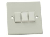 SMJ SMJW32LSC - Light Switch 3 Gang 2 Way