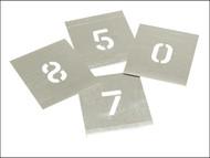 Stencils STNF1W - Set of Zinc Stencils - Figures 1.in Walleted