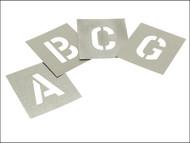 Stencils STNL1 - Set of Zinc Stencils - Letters 1in