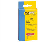 Tacwise TAC0284 - 91 Narrow Crown Staples 20mm - Electric Tackers Pack 1000