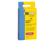 Tacwise TAC0285 - 91 Narrow Crown Staples 25mm - Electric Tackers Pack 1000