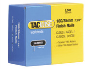 Tacwise TAC0295 - 16 Gauge Straight Finish Nails 35mm Pack 2500