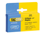 Tacwise TAC0334 - 53 Light-Duty Staples 6mm (Type JT21, A) Pack 2000