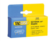 Tacwise TAC0336 - 53 Light-Duty Staples 10mm (Type JT21, A) Pack 2000