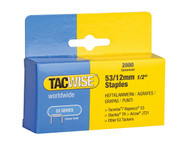 Tacwise TAC0337 - 53 Light-Duty Staples 12mm (Type JT21, A) Pack 2000