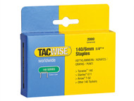 Tacwise TAC0345 - 140 Heavy-Duty Staples 6mm (Type T50, G) Pack 2000